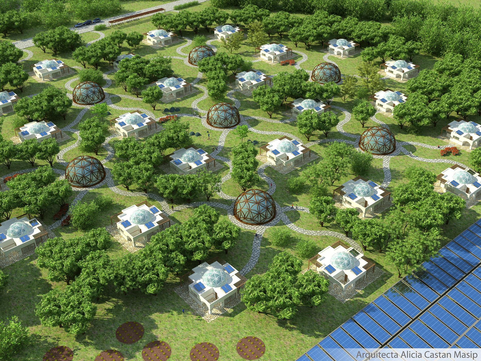 Proyecto La Flor de la Vida arquitectura sostenible y economía circular